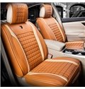 Beautiful in Colors Luxurious Plaid Genuine Leather Universal Car Seat Cover