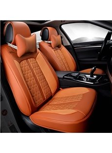Color Brilliancy Showy Polka Dot Genuine Leather Universal Car Seat Cover