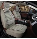 Beautiful in Colors Beautiful Design Polka Dot Genuine Leather Universal Car Seat Cover