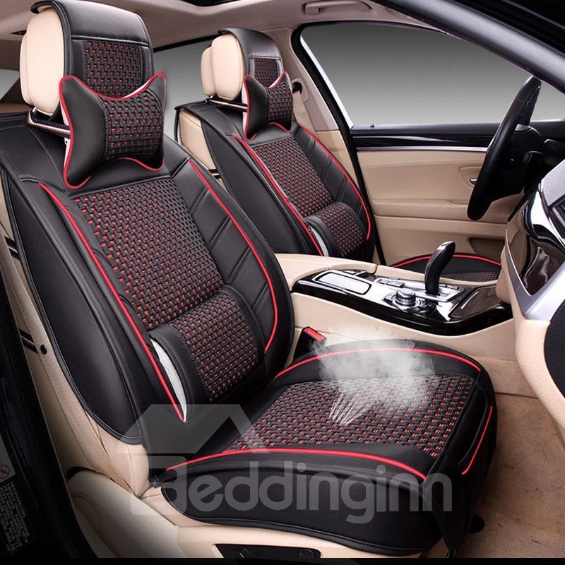 Beautiful in Colors Stylish Striped Ice Silk And Rayon Universal Car Seat Cover