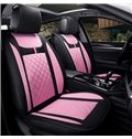 Colorful Conventional Striped Genuine Leather Designed for 7 Seats Car Seat Cover