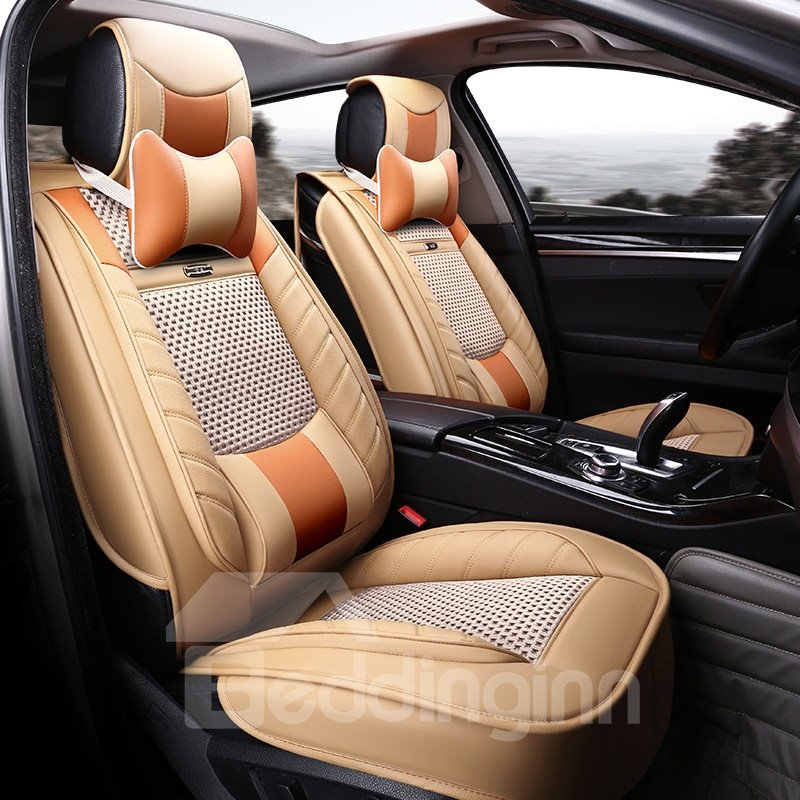 Ventilating Design Business Style Ice Silk And Rayon Universal Car Seat Cover