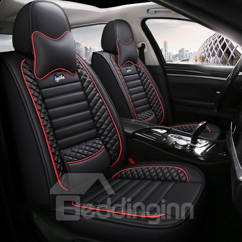 Fashionable Patterns Elegant Shape Solid Genuine Leather Universal Car Seat Cover Universal Fit Interior Accessories for Auto Truck Van SUV Fashionable Patterns Elegant Shape Solid Genuine Leather Universal Car Seat Cover Universal Fit Interior Accessories for Auto Truck Van SUV