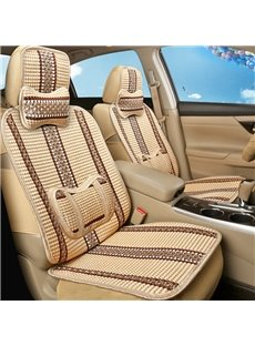 Pretty and Colorful Ornamental Striped Ice Silk And Rayon Universal Car Seat Cover