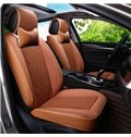 Delicate Colors Antique Plaid Flax And Natural Fibers Universal Car Seat Cover