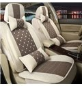 Beautiful in Colors Modern Plaid Flax And Natural Fibers Universal Car Seat Cover