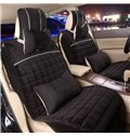Colorful Attractive Design Plaid Velvet Universal Car Seat Cover