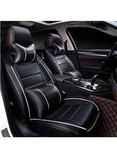 Color Brilliancy Elegant Shape Striped Genuine Leather Universal Car Seat Cover
