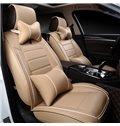 Color Brilliancy Elegant Shape Striped Genuine Leather Universal Car Seat Cover