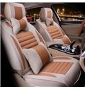 Pretty and Colorful Elegant Natural Flax And Natural Fibers Universal Car Seat Cover