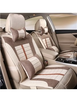 Comfort Design Plaid Pattern Linen Universal Car Seat Cover