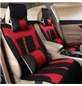 Comfort Design Plaid Pattern Linen Universal Car Seat Cover