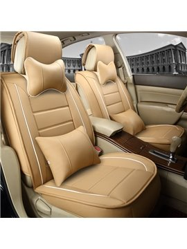 Delicate Colors Business Solid Genuine Leather Universal Car Seat Cover