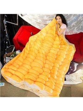 3D Golden Corn Design Super Soft Polyester Quilt