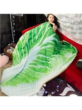3D Cabbage-Shaped Design Realistic Style Polyester Quilt
