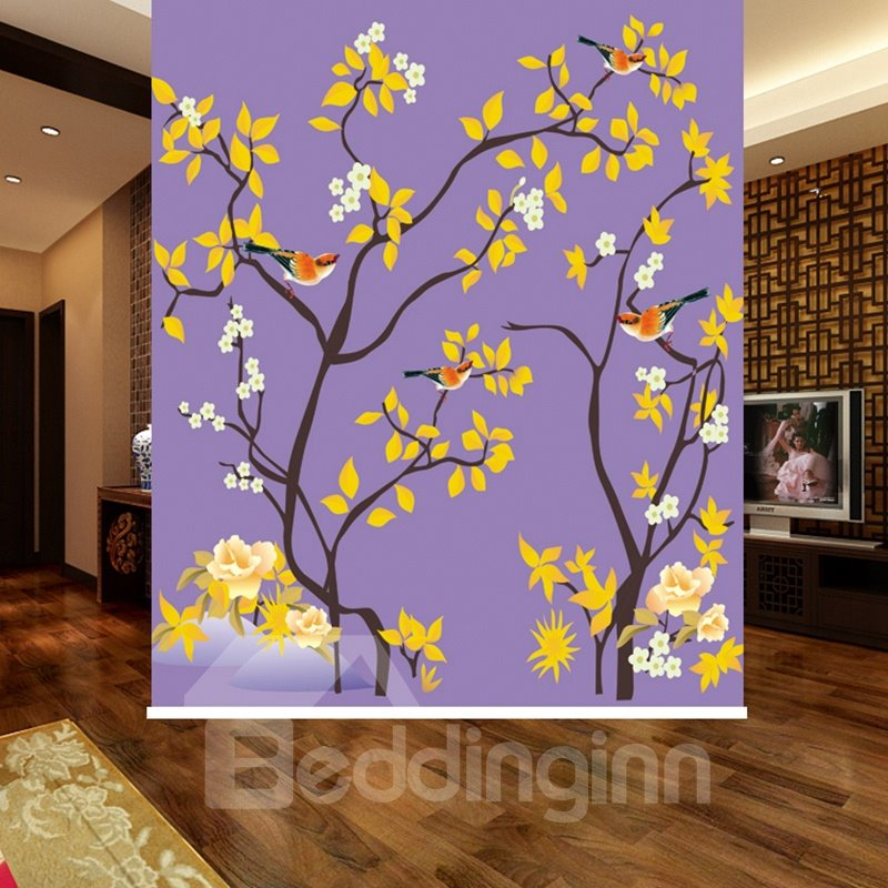 Bird in the Yellow Tree 3D Printed Blackout Roller Shades