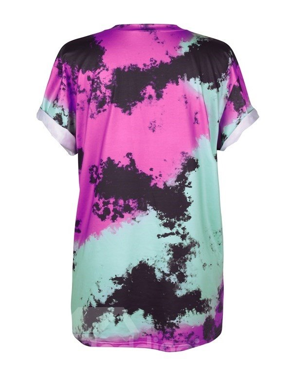 Aliens Printed Gradient Colored 3D T-Shirts