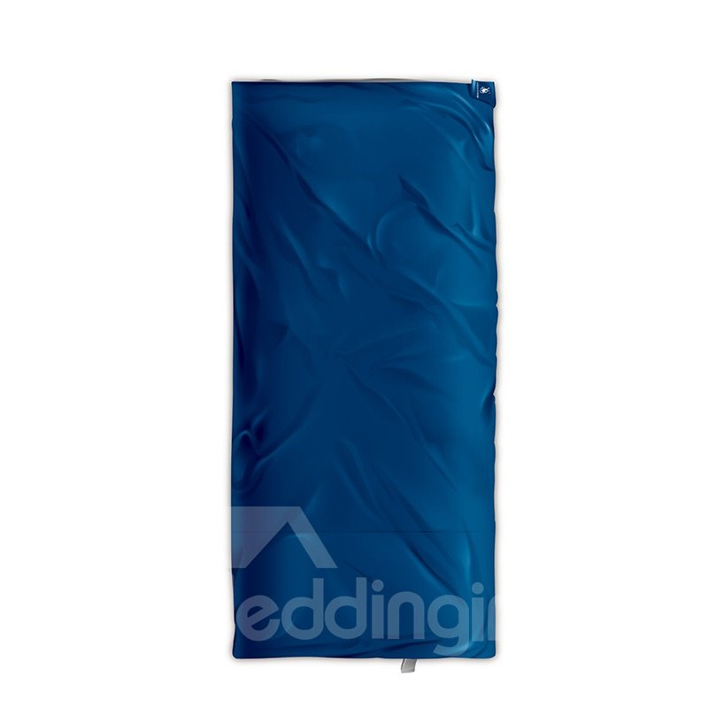 Envelope Warm Cool Weather Tied Dark Blue Camping Sleeping Bag For Temperatures 40 F to 60 F