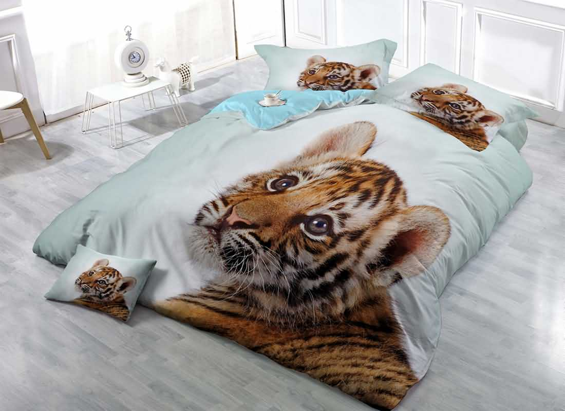 Beddinginn Tiger D Printed Cotton Bedding Sets Duvet Covers Baby