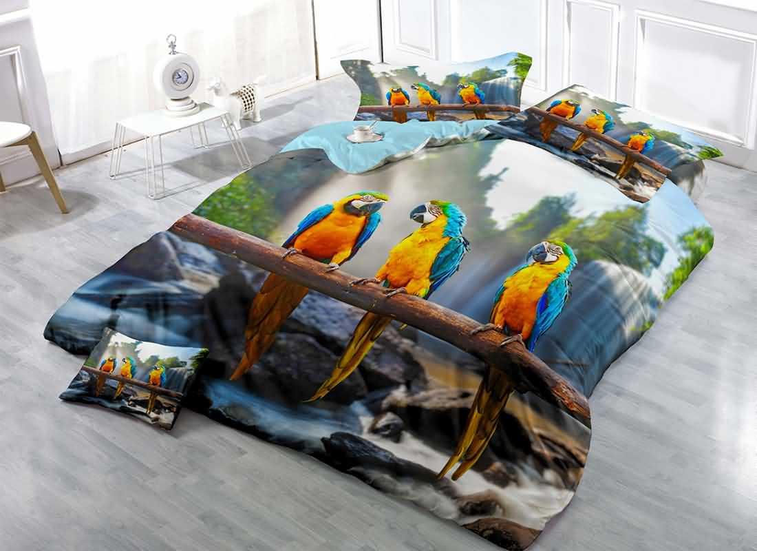 Branch Print Cotton Bedding Sets Duvet Covers On