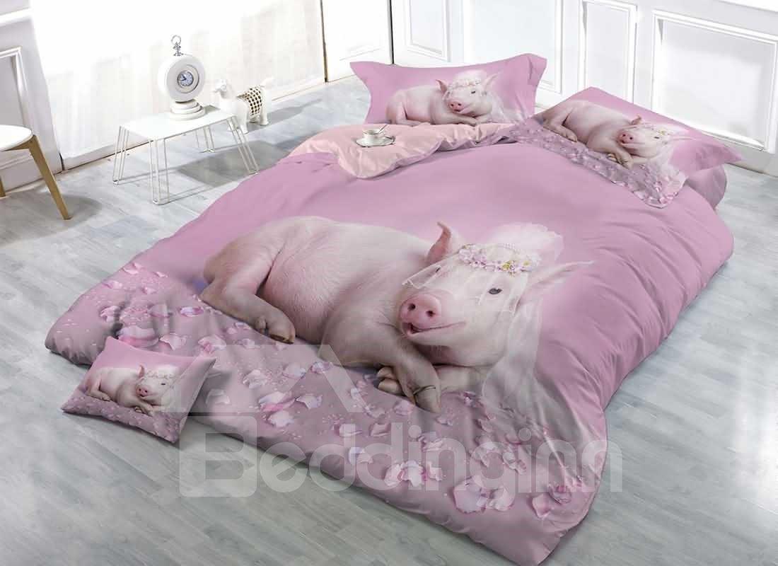 Pig Cotton D Bedding Sets Duvet Covers Princess