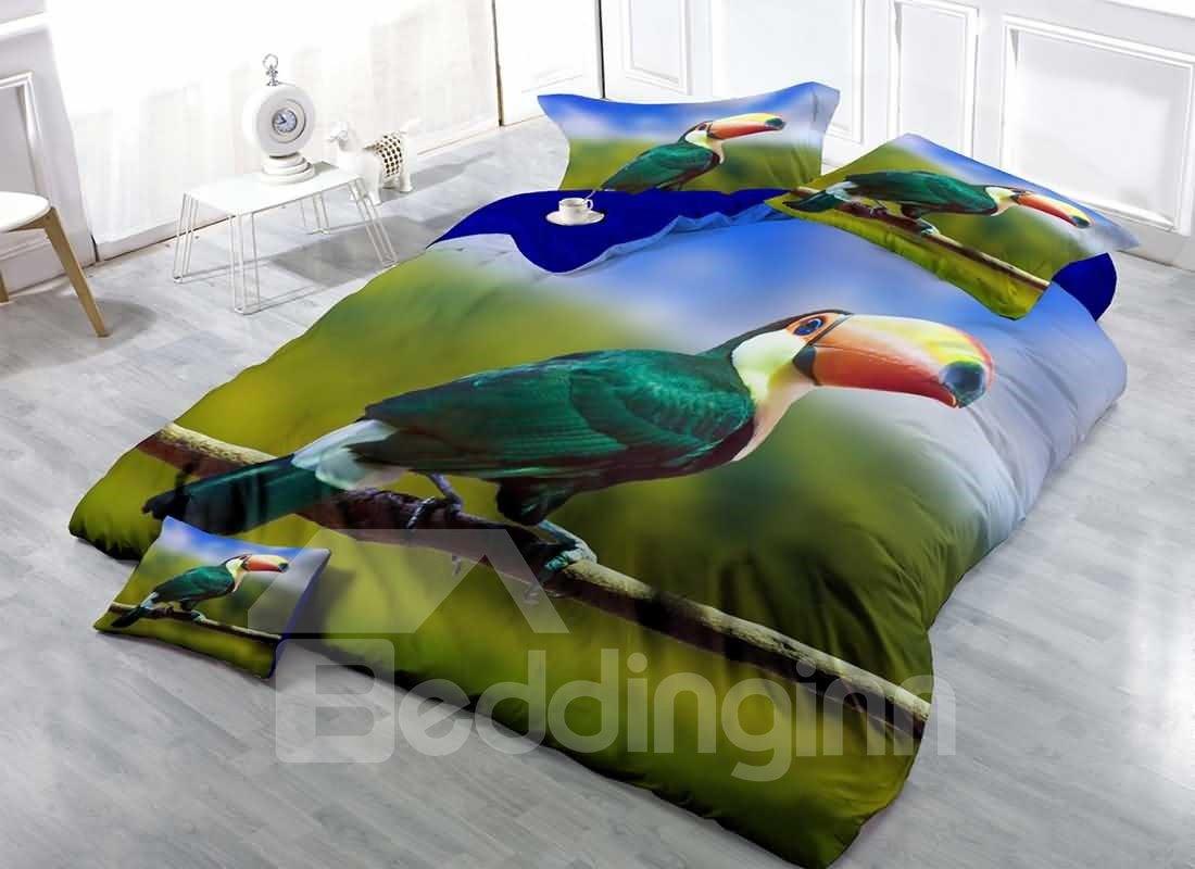 Toucan Printed Cotton Bedding Sets Duvet Covers Tropical