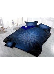 3D MedallionPrinted Cotton 4-Piece Bedding Sets/Duvet Covers