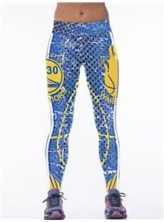 Polka Dots Pattern Blue Women's 3D Leggings