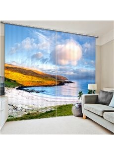 Wonderful Seaside Scenery 3D Printed Polyester Curtain