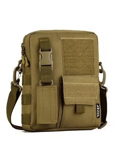 Camo Waterproof MOLLE Army Military Shoulder Bag Black Men' s Backpack