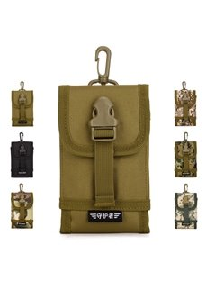 Nylon Waterproof Hangable MOLLE System Larger Telephone Bag Backpack