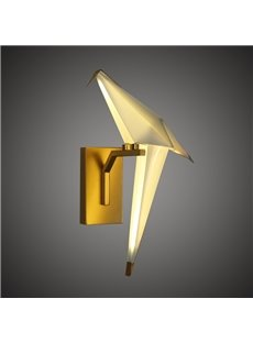 Golden Base and White Bird Acrylic Wall Light