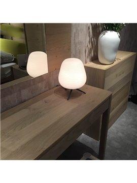 Unique Tripod Design Hardware and Glass Modern Simple Decorative Table Lamp