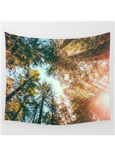 59L*51W Sun and Forest Scenery Fresh Style Wall Tapestries
