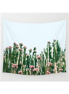 59L*51W Cactus Blooming Scenery Fresh Style Wall Tapestries