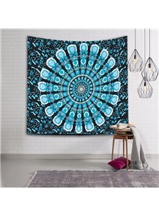 Blue Gradient Color Mandala Pattern Ethnic Style Wall Tapestries