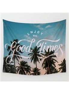 59L*51W Coconut Palms of Good Times Scenery Wall Tapestries