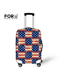 American Flag Waterproof Stretch18-30 Inch 3D Printed Suitcase Blue Luggage Protector Covers