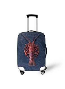 Lobster Seafood Fabric Stretch 18-30 Inch 3D Printed Travel Blue Luggage Covers