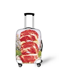 Food Meat Waterproof Stretch 18-30 Inch 3D Printed Travel Suitcase Luggage Covers