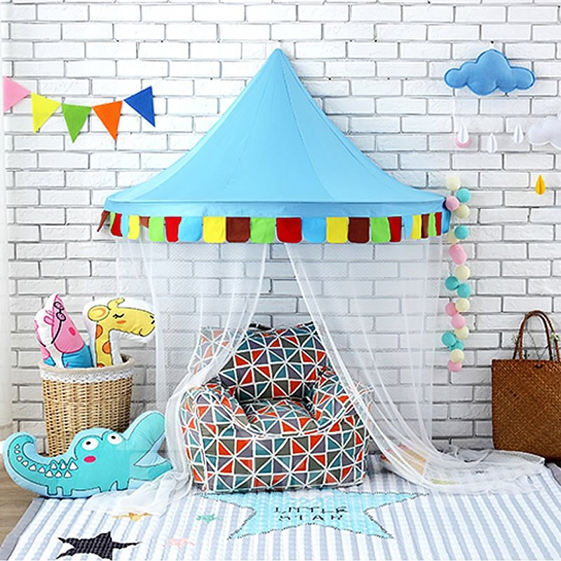 Kids Room Reading Nook Playroom Decor Cotton Bed Canopy Beddinginn Com