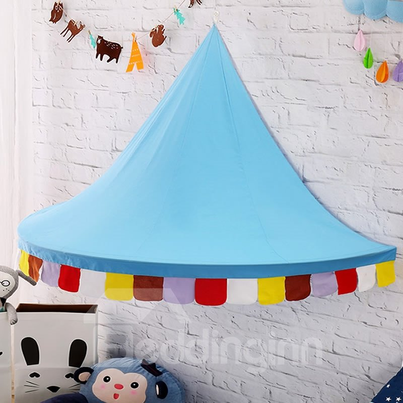 Kids Room Reading Nook Playroom Decor Cotton Bed Canopy