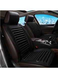 Business Patterns With Air Cooling System Universal Fit Car Seat Cover Mat Single Piece
