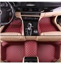 Luxury Series Padded Squares Pattern Protection Custom Fit Car Floor Mats