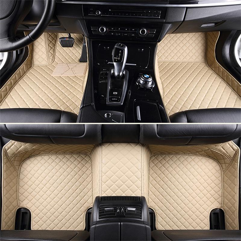 BeddingInn Plaid Trims Design Leather Carpet Custom Fit Car Floor
