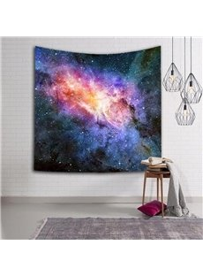 3D Colorful Clouds and Black Galaxy Space Hanging Wall Tapestries
