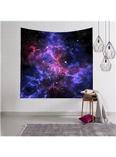 3D Dark Purple and Blue Galaxy Space Hanging Wall Tapestries