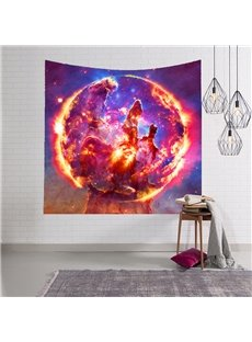 Sun Burning Hot and Magical Galaxy Space Hanging Wall Tapestries