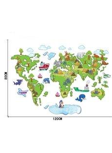 Removable World Map PVC Princess 39