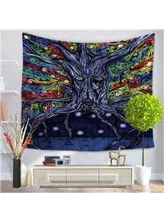 Mythical Ethnic Style Tree Root Oil Painting Hanging Wall Tapestry